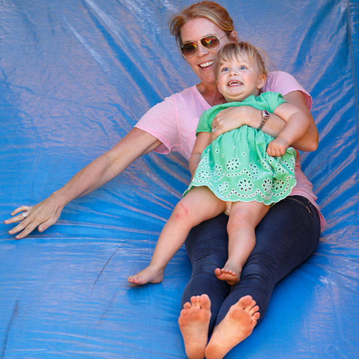 Mia loves a thrill! Autumn Phillips and the little girl enjoyed a bouncy castle slide at the Festival of British Eventing on Aug. 6, 2016!