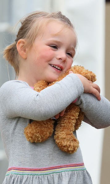 While she loves ponies, her teddy is her number one!