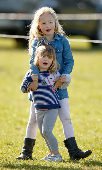 Mia had some fun horsing around with her cousin Savannah Phillips while at the horse trials in 2017!