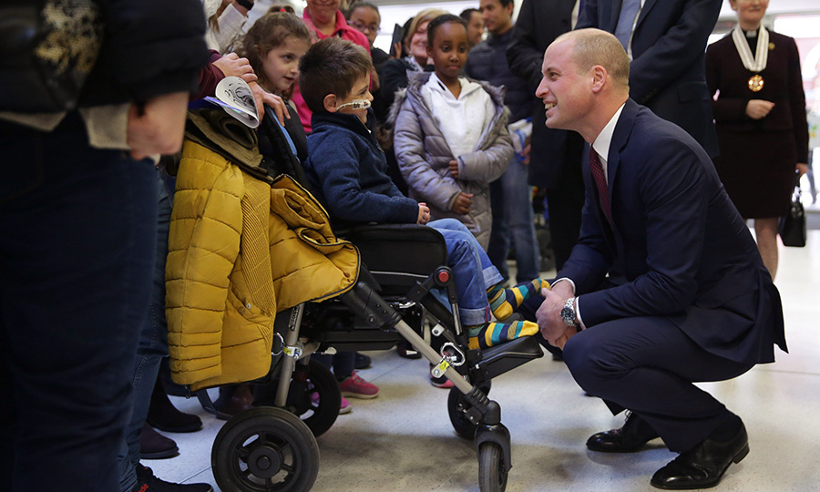 On a visit to Evelina London Children's Hospital, Prince William had an adorable meeting with a young patient. The two chatted and shook hands, while onlookers watch on. The Duke was on a royal engagement to help launch a nationwide program to help veterans find work.