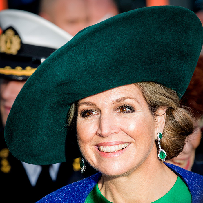 Queen Maxima looked regal in royal hues! The stunning Queen stepped out on Jan. 17 in the Netherlands to support a bio fair opening!