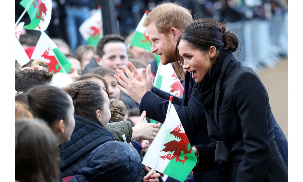<p>Prince Harry and Meghan Markle's trip to Cardiff were greeted with cheers and applause from well-wishers on Thursday afternoon. The royal couple's arrival had been slightly later than planned, as their Great Western Railway train service from London Paddington was delayed en route.</p>
