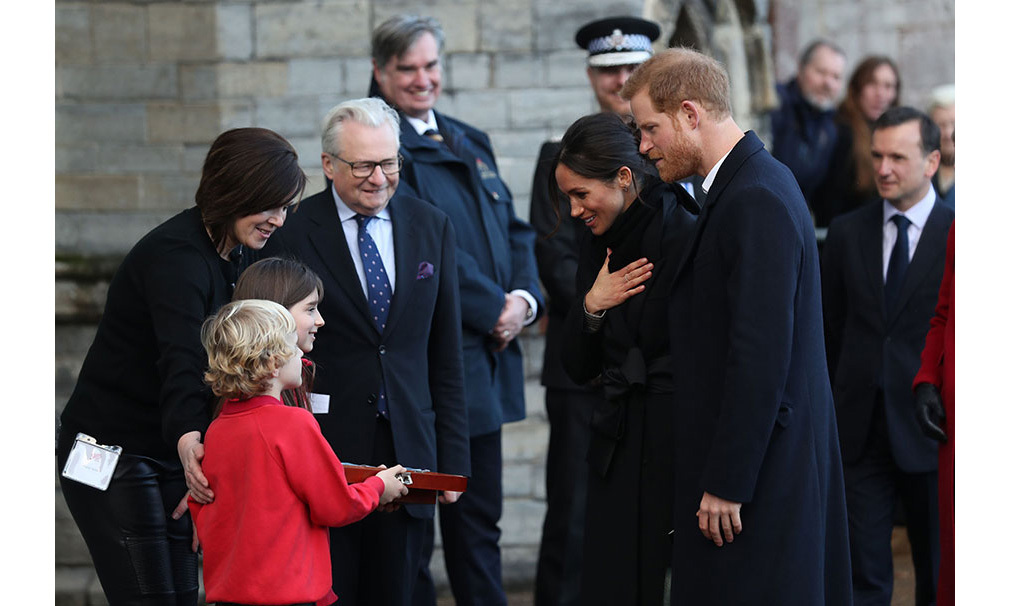 <p>When Harry and Meghan met Harry and Megan! Prince Harry and Meghan Markle were delighted to recieve a wedding gift from two local schoolchildren - who shared their namesakes. Harry Smith and Megan Taylor were both from Marlborough Primary School. </p>