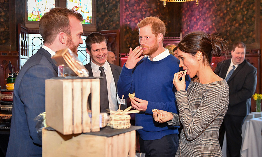 Harry and Meghan put their cheese connoisseur hats on and had a taste of some of Wales' finest.