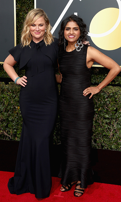 <h4>Amy Poehler and Saru-Jayaraman</h4>