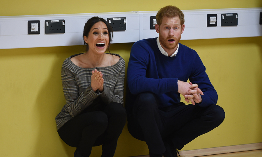 Meghan and Harry watched on enthusiastically as a group of kids showed off their dance moves!