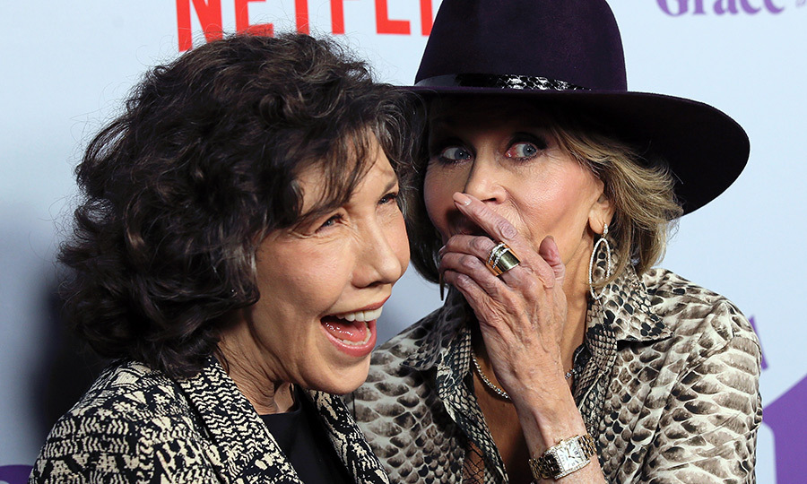 Lily Tomlin and Jane Fonda are two peas in a pod! The two leading ladies celebrated the premiere of season four of <em>Gracie and Frankie</em> on Jan. 18 in California.