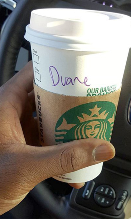 Starbucks <em>almost</em> got Dwyane Wade's name right!