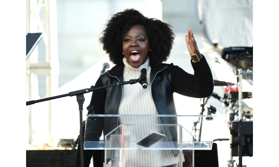 With her usual poise and passion, Viola Davis gave a stirring speech onstage at the 2018 Women's March in L.A. According to CNN's coverage, Viola told the crowd at Pershing Square: