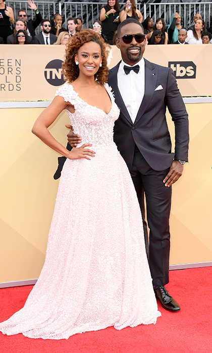 <h2>Ryan Michelle Bathe and Sterling K Brown</h2>