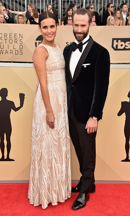 <h2>Maria Dolores Dieguez and Joseph Fiennes</h2>