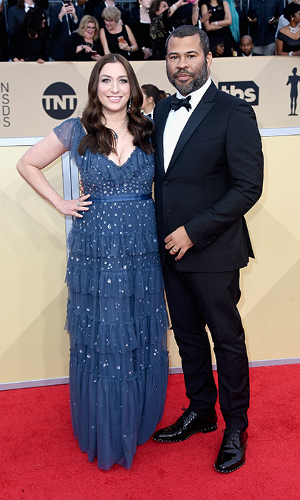 <h2>Chelsea Peretti and Jordan Peele</h2>