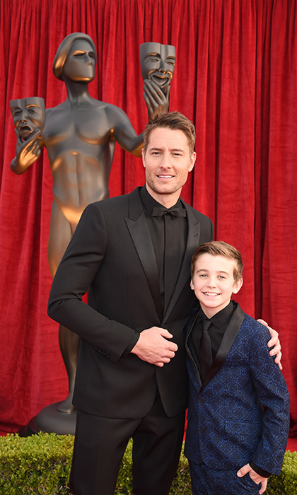 Parker Bates sees his future posing with his <em>This Is Us</em> character all grown up, Justin Hartley