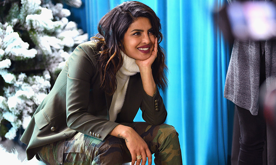 Priyanka Chopra - one of Meghan Markle's BFFs - looked gorgeous in camouflage while attending the Sundance Film Festival in Utah.