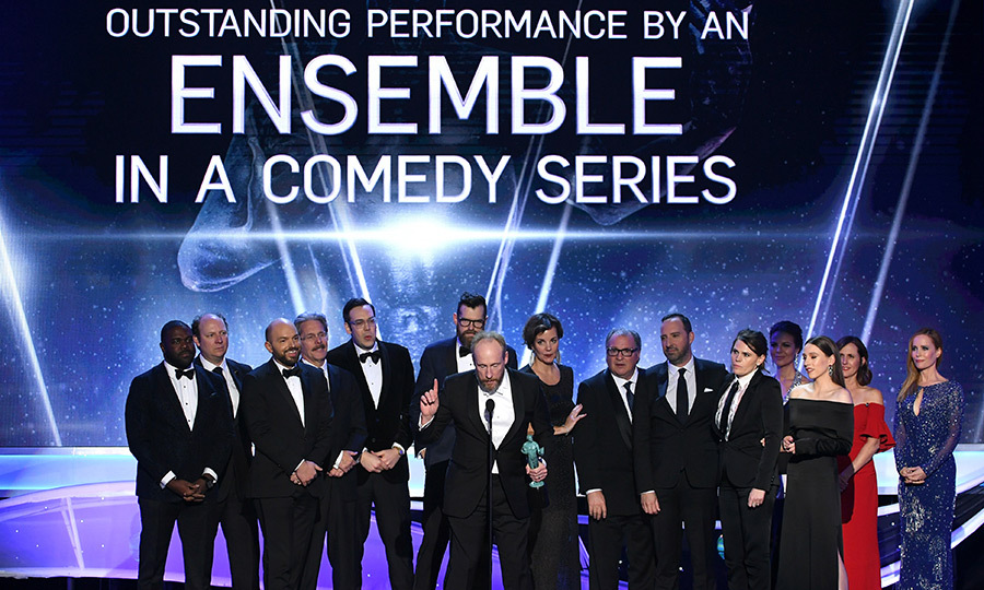 <h4>The <em>Veep</em> casts' hilarious acceptance speech</h4>