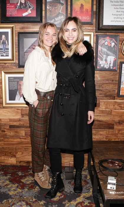 "Jake and Maggie weren't the only siblings to hang in Park City. Immy and Suki Waterhouse took in a performance by Martha Wainwright at the Autograph Collection Hotels & the Black List party. Suki was overheard talking about seeing Jane Fonda's documentary, saying it was ""Unbelievable!"" The older sister also added: ""I sobbed. I snotted all over my Burberry coat!""