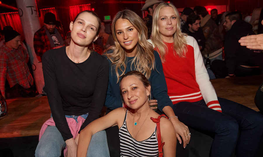 Girls' night! Sara and Erin Foster, Jennifer Meyer and Yael Cohen Braun held court at a table at Tao Park City while listening to DJs Vice and Mel DeBarge.