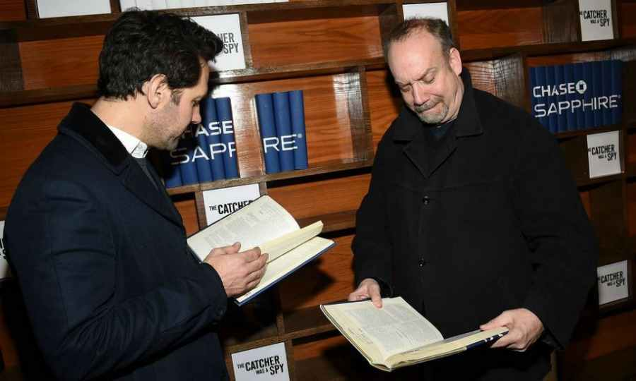 Paul and Paul! Paul Rudd and Paul Giamatti caught up on their reading at <em>The Catcher Was a Spy</em> cast party at Chase Sapphire on Main on January 19 in Park City. 