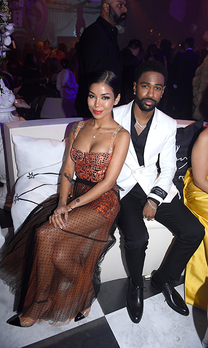 One of the music industry's most beloved couple, Jhene Aiko and Big Sean made a gorgeous appearance at Le Bal, as well. Jhene stunned in a copper gown with a coral lip, while Sean looked dapper as ever in a black-and-white suit.