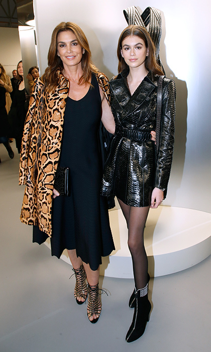 The sartorial apple doesn't fall far from the tree! Cindy Crawford and her daughter Kaia Gerber looked fashionably fierce at the 'Azzedine Alaia: Je Suis Couturier' Exhibition as part of Paris Fashion Week. The revered designer sadly past away late last year.