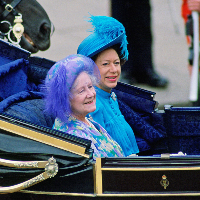 <p>Royal guests also included the groom's grandmother, the Queen Mother, and his aunt Princess Margaret, who both wore similar hues of blue for the summer wedding.</p>