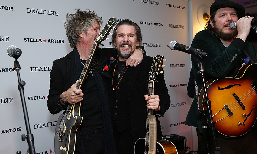 Ethan Hawke is a rocker, too! He played some tunes alongside his fellow musicians at <em>Deadline</em>'s Stella Artois event.