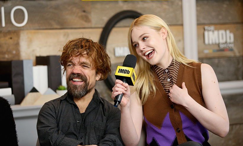<em>Game of Thrones</em>' Peter Dinklage and Elle Fanning shared some laughs together while speaking at the IMDb event. The two star in <em>I Think We're Alone Now</em>, their first film together!