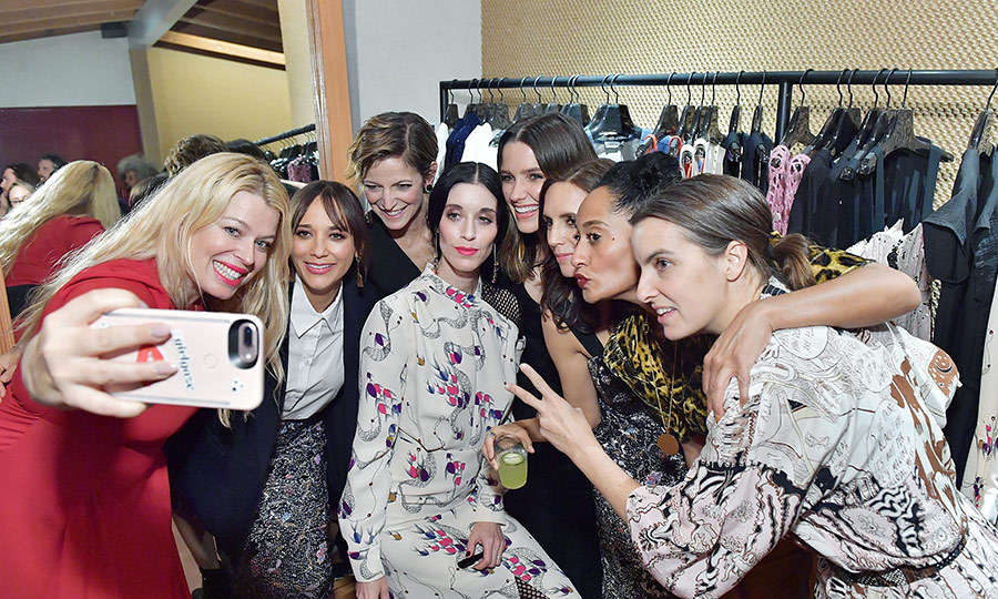 Conde Nast co-hosted a Women's March cocktail event to celebrate one year since the first demonstration. Industry women like Rashida Jones, Tracee Ellis Ross and Sophia Bush stopped for a selfie at the event.