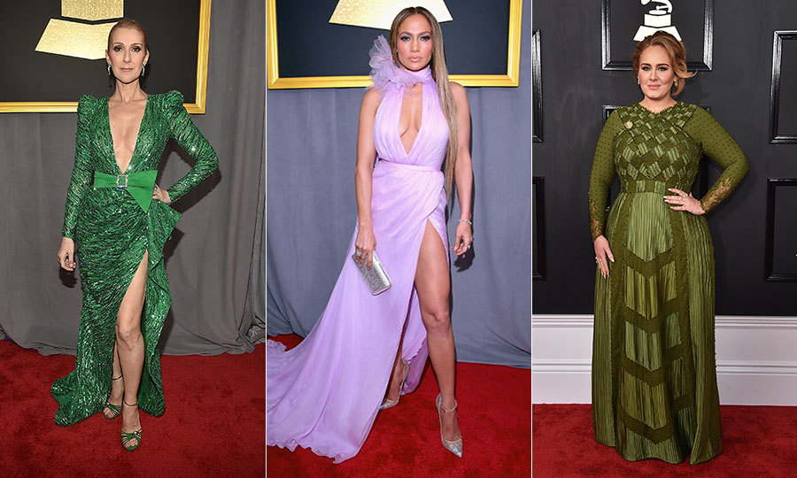 The 2017 GRAMMY awards was filled with colour as stars geared up for music's biggest night on the red carpet. From emerald green to ruby red, see what made the sartorial cut for stars like Celine Dion, Jennifer Lopez and Adele! Click through to see all the looks...
