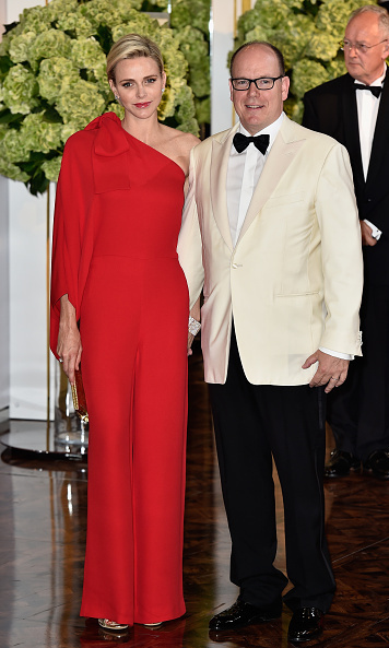 <p>July 2015: Charlene was dazzling in red at the Red Cross Ball.</p>
