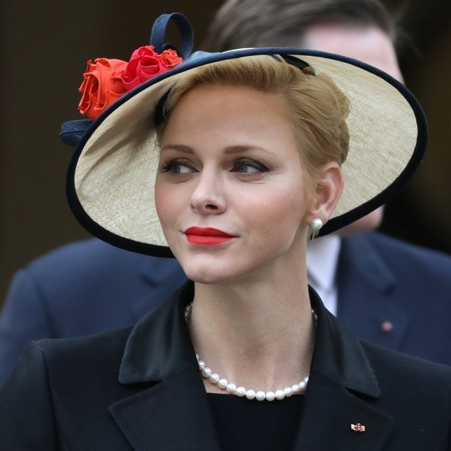 <p>November 2016: At Monaco's National Day, the princess wore a 1950s-inspired hat and pearls, perhaps a nod to her late mother-in-law, silver screen star Grace Kelly.</p>