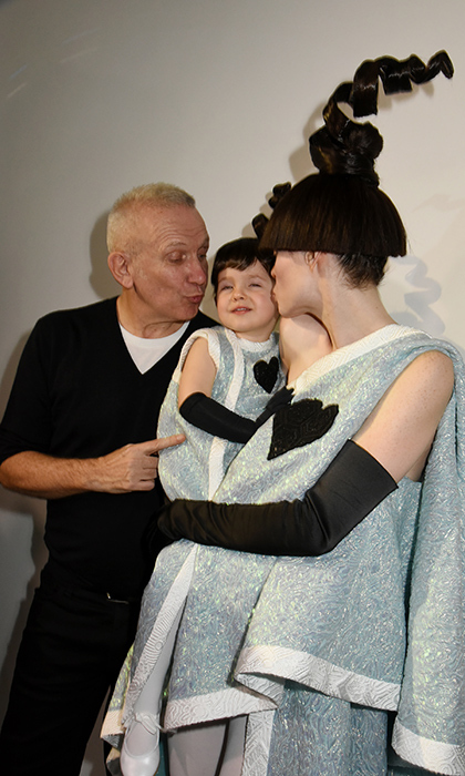 Coco Rocha's adorable little girl Ioni stole Jean Paul Gauthier's Paris Fashion Week show! The Canadian model and her daughter dressed in matching outfits for the catwalk.