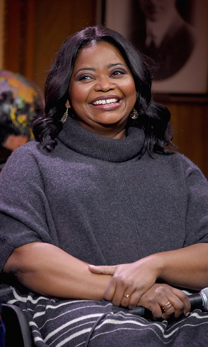 Octavia Spencer showed off her megawatt smile while speaking on the 'Sloane Panel: Ways Of Seeing' panel.