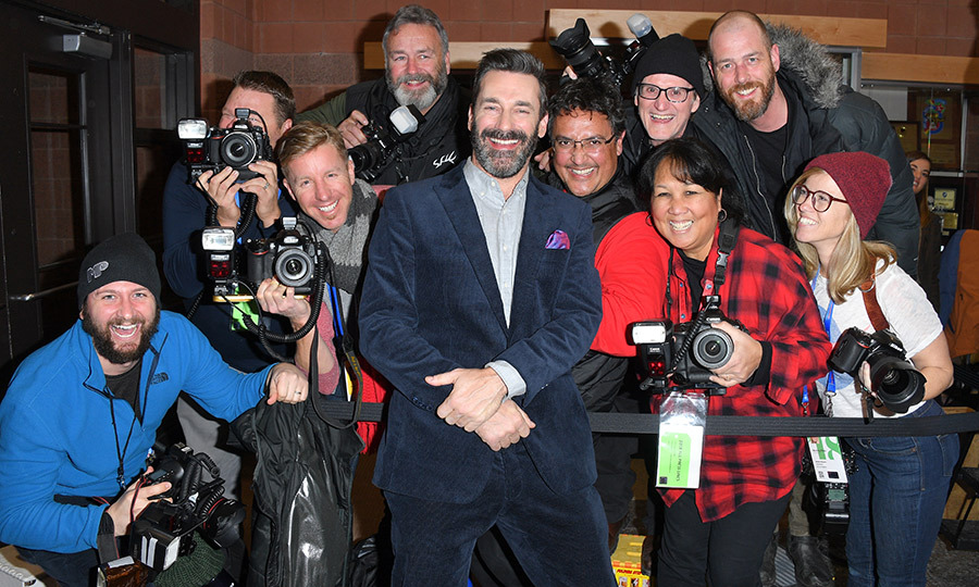 Jon Hamm flipped the cameras and stopped for a photo with Sundance Film Festival photographers!