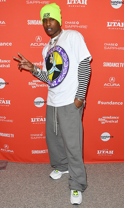 Rapper A$AP Rocky even showed up for a movie or two! The musician threw up the peace sign for photographers at the <em>Monster</em> premiere.