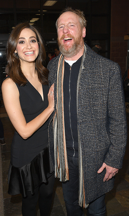 Emmy Rossum and Matt Walsh shared a couple laughs while attending the <em>A Futile and Stupid Gesture</em> screening.