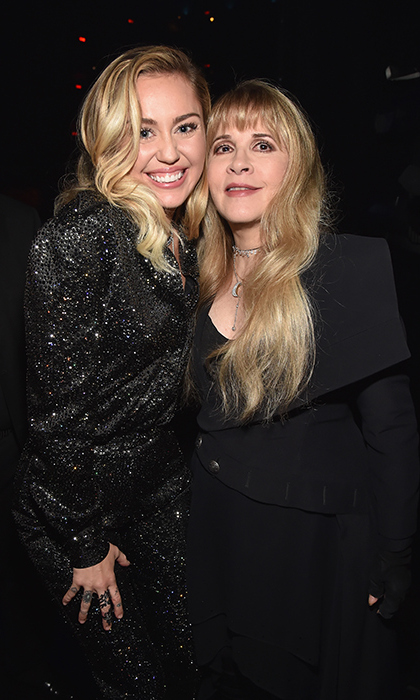 "GRAMMYs weekend got underway in style! Miley Cyrus posed with Stevie Nicks of Fleetwood Mac after joining the singer on stage to belt out ""Landslide"" at Musicares. Haim, Harry Styles, Lorde, Rachel Platten and more were also on hand to honour the band as the 2018 Person of the Year.