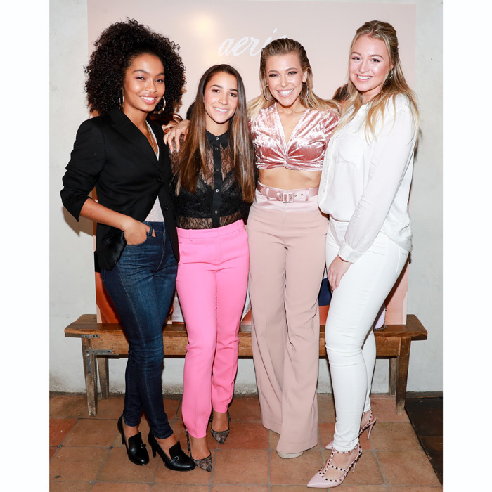 <p>Yara Shahidi, Aly Raisman, Rachel Platten and Iskra Lawrence celebrated their new campaign as #AerieReal Role Models at a dinner in NYC. The latest campaign shows the four fierce ladies unretouched and fresh-faced.</p>