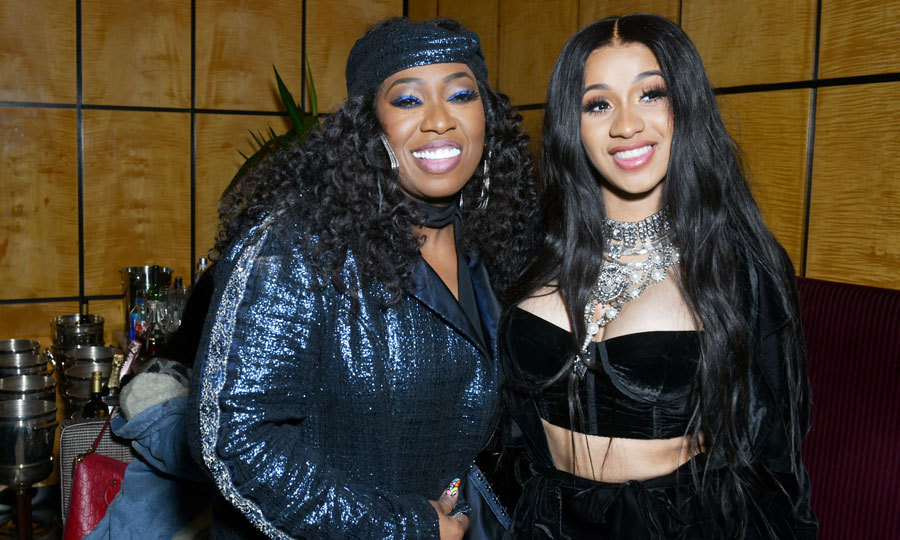"Cardi B, who also performed, shared a moment with Missy Elliot at the Warner Music Group pre-Grammy party. The ""Bodak Yellow"" rapper sang her hits for a crowd that also included Kelly Clarkson and Josh Groban.