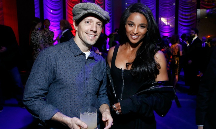 Jason Mraz and Ciara posed for a photo during the Warner Music Group Pre-Grammy Party, which was held in association with V Magazine in NYC. 