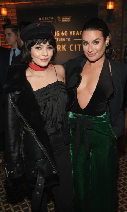 Vanessa Hudgens and Lea Michele buddied up for the Delta Air Lines shindig. The company hosted a private performance with Julia Michaels at the Bowery Hotel in honour of the 60th Annual GRAMMY Awards.