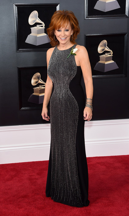 <p>Reba McEntire in Jovani</p>