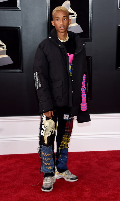 <p>Jaden Smith in MSFTSRep top and G-Star pants</p>