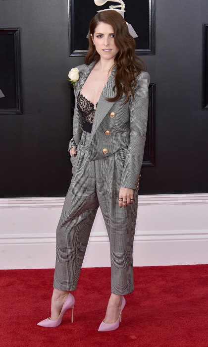 <p>Anna Kendrick in Balmain</p>