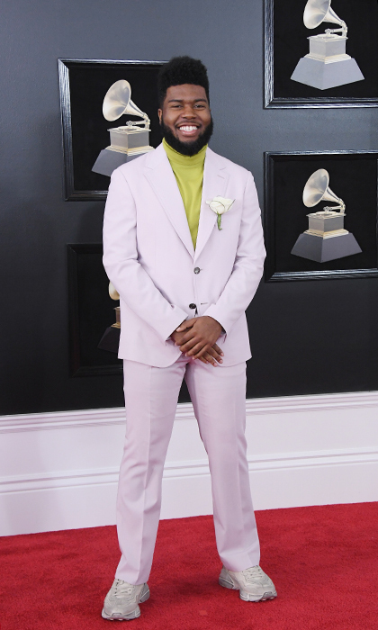 <p>Khalid in Salvatore Ferragamo</p>