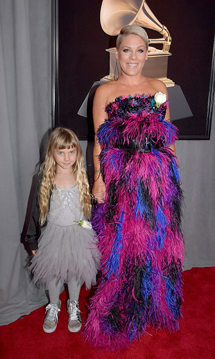 <p>Willow Sage Hart and Pink in Giorgio Armani</p>