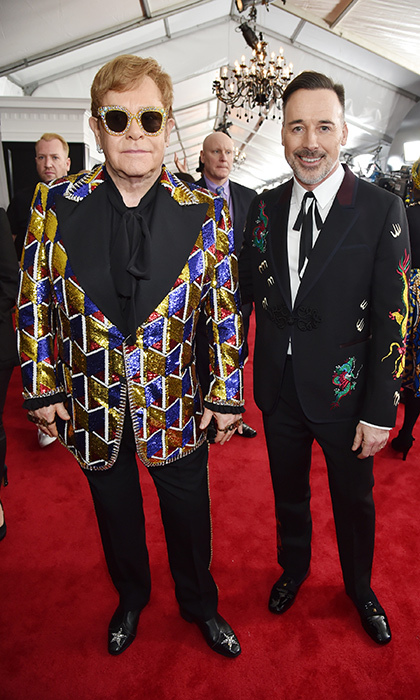 <p>Elton John and David Firnish</p>