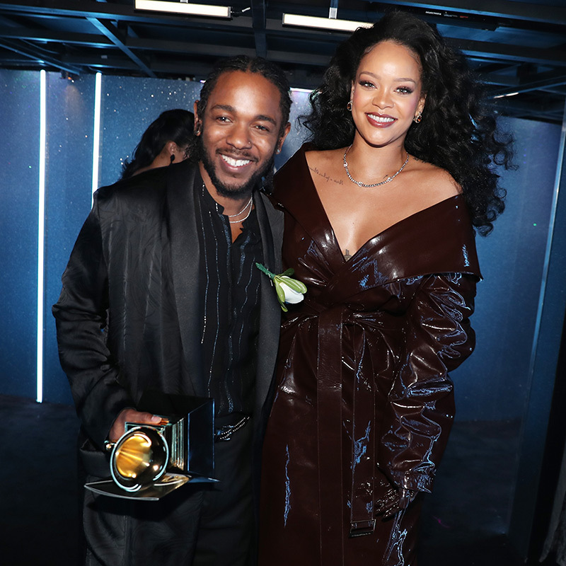 <p>Kendrick Lamar and Rihanna in Alexandre Vauthier Haute Couture</p>
