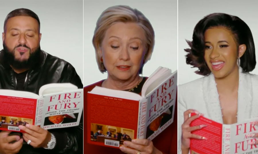 <h4>Public figures reading <em>Fire and Fury</em></h4>