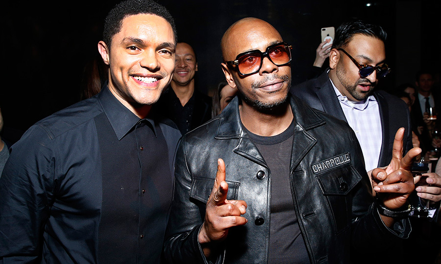 Trevor Noah and Dave Chapelle bonded at the Universal Music Group 2018 after party!
